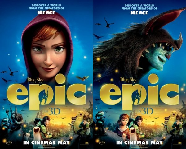 """Nouveaux posters de """"Epic : la bataille du Royaume Secret""""."""