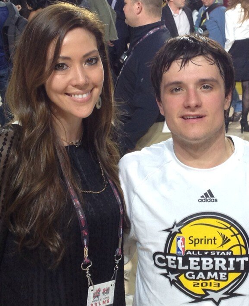 "Josh au ""Sprint NBA All-Star Celebrity Game"" (15-02-13)."