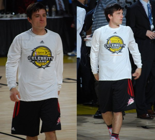 "Nouvelles photos de Josh au ""Sprint NBA All-Star Celebrity Game"" (15-02-13)."