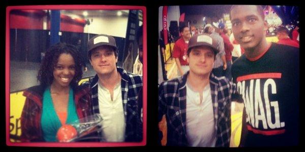 "Josh au ""The All-Star Celebrity Game 2013"" (Houston 16-02-13)."