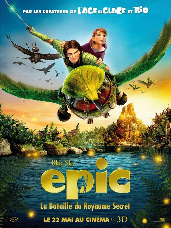 """Nouveaux posters espagnol et français de """"Epic : la bataille du Royaume Secret""""."""