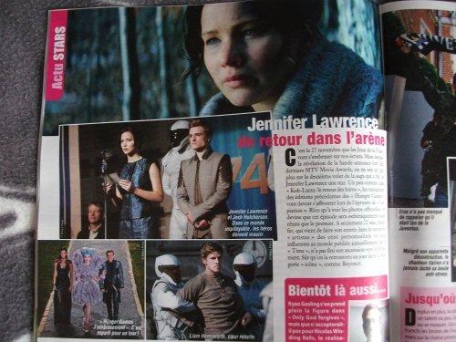 """Petit article sur """"Catching Fire"""" et J-Law dans le """"Ciné Télé Revue"""" (Belgique)."""