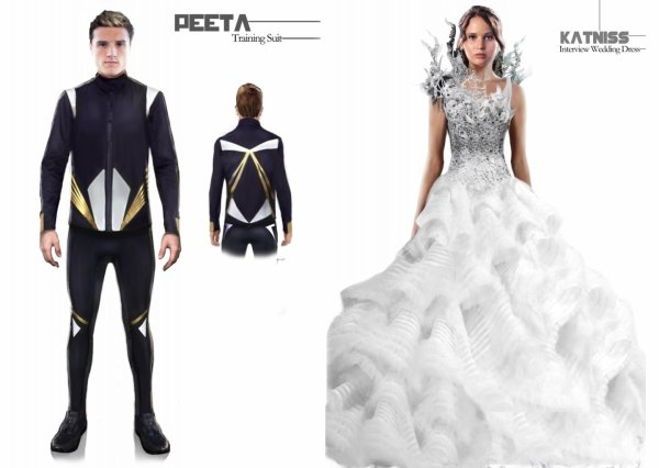 "Costumes de ""Catching Fire""."