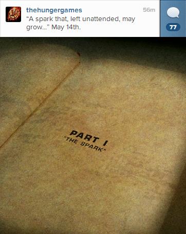 """Nouvelle image sur le compte Instagram de """"The Hunger Games""""."""