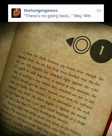 """Nouveau message sur le compte Instagram de """"The Hunger Games""""."""