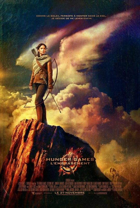 "Nouveau poster de ""Catching Fire""."