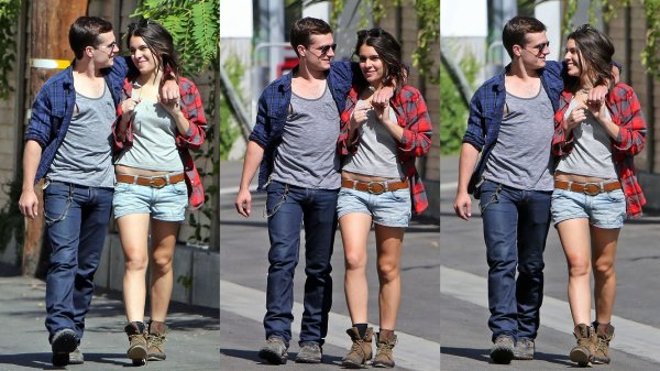 Josh avec Claudia Traisac à Los Angeles (22-06-2013).