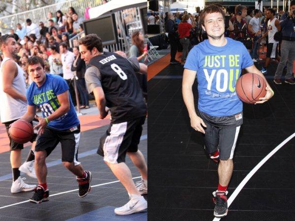 "Nouvelles photos de Josh au ""5th Annual Nike Basketball 3ON3 Tournament"" (09-08-2013)."