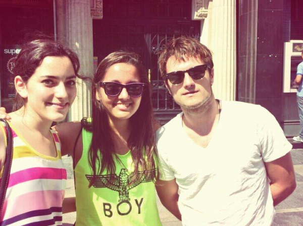 Josh aperçu à Madrid (22-08-2013).