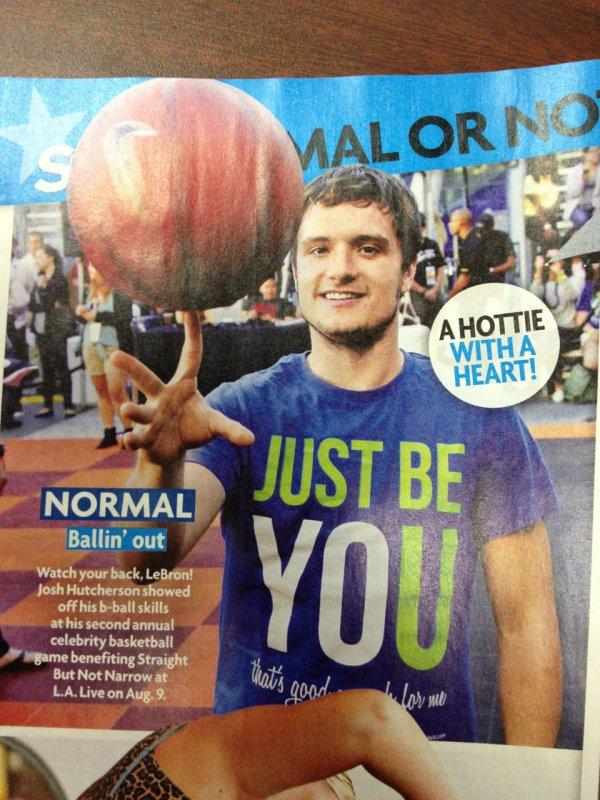 "Josh dans ""Star Magazine""."
