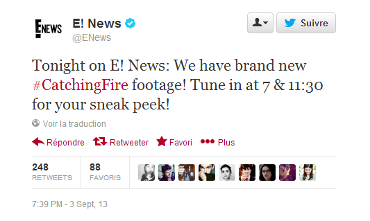 "Sneak Peek de ""Catching Fire""."