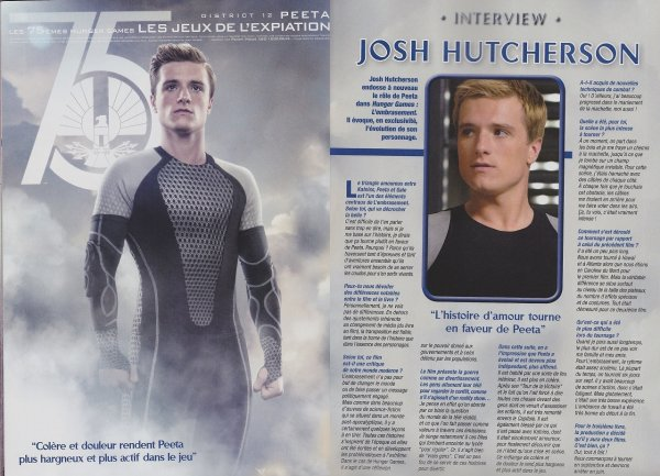"Interview de Josh pour le magazine ""One""."