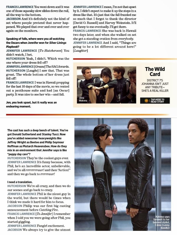 Interview du magazine Entertainment Weekly.