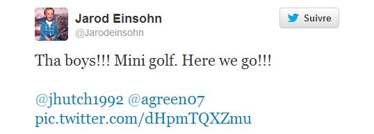 Josh à une partie de mini golf avec des amis (11-10-2013).