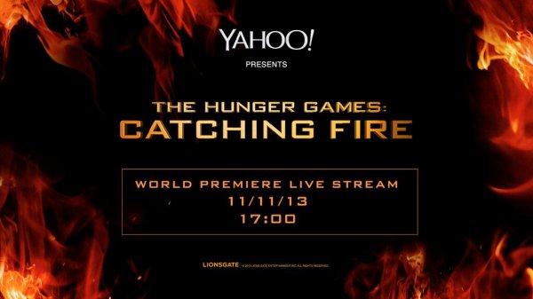 """Avant-première de """"Catching Fire"""" à Londres."""