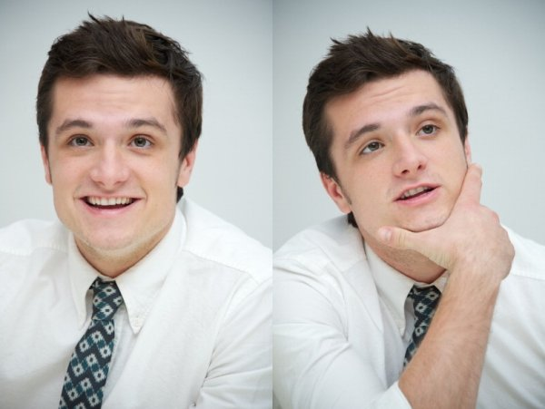 "Photos de Josh à la conférence de presse de ""Catching Fire"" (Los Angeles 08-11-2013)."