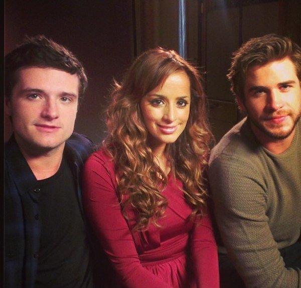 Josh et Liam durant une interview à Londres (11-11-2013).