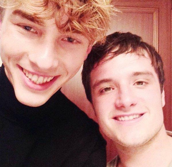 Josh avec un journaliste allemand (12-11-2013).