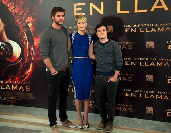 "Photocall ""Catching Fire"" à Madrid (13-11-2013). Partie 1."