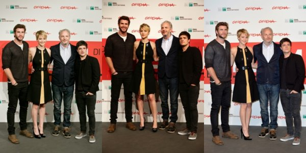 "Photocall ""Catching Fire"" à Rome (14-11-2013). Partie 1."