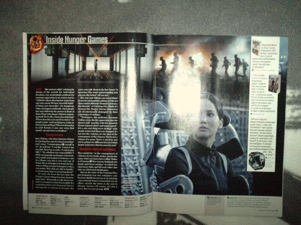 """""""Today in English"""" (magazine pour apprendre l'anglais) qui parle de Josh et de """"Hunger Games""""."""