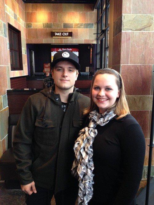 Nouvelle photo de Joah avec une fan dans l'Ohio.