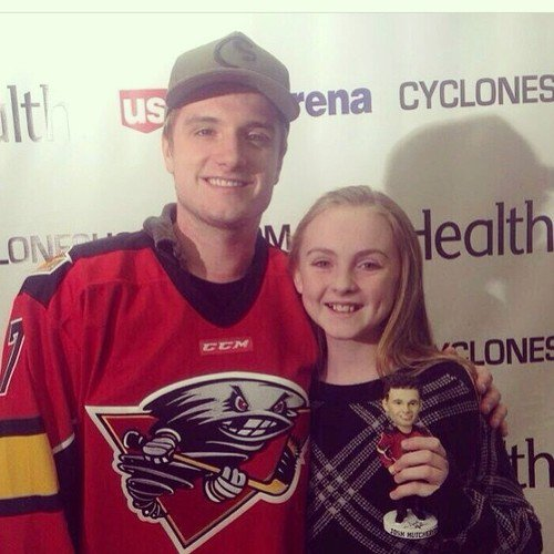 Josh au match de Hockey Cyclones vs Stingrays (Cincinnati 17-01-2014).