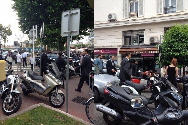 Josh dans les rues de Cannes (17-05-2014).