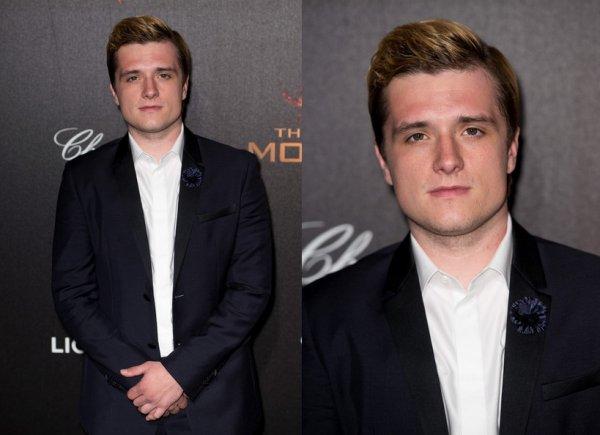 """Photos et Vidéos de Josh à la soirée privée """"The Hunger Games: Mockingjay Part 1"""" à Cannes (17-05-2014)."""
