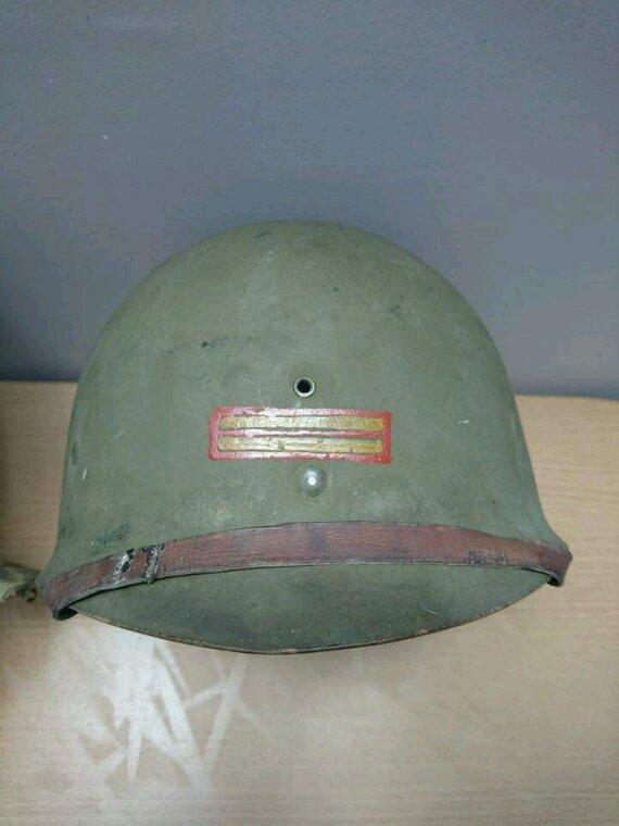 Casque US WWII lieutenant première armée