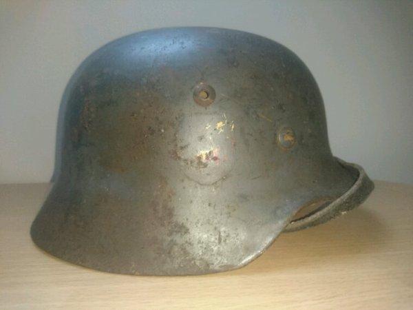 Casque allemand luftwaffe bataille de pleurtuit