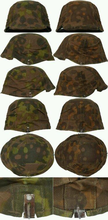 Couvre casque Waffen SS camouflé (collection privée)