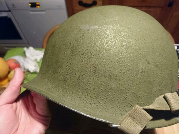 Casque US pontets mobile fabrication 1943