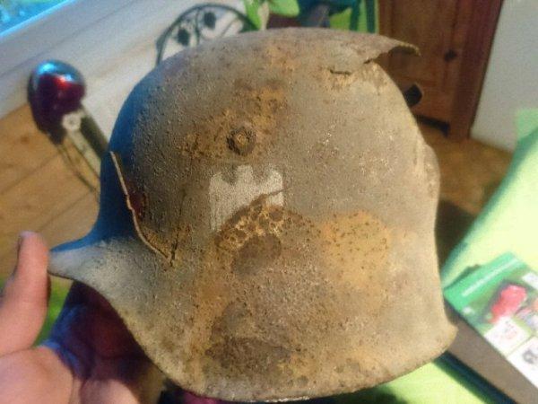 Relique casque allemand bataille de pleurtuit