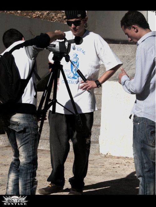 tournage du clip du groupe Mic Atlas. titer partie show