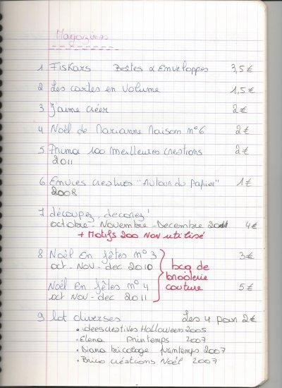 Liste livres et Magasines