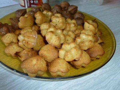 Mini moelleux aux spéculoos et nutella