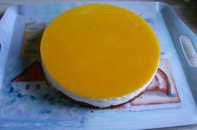 Bavarois citron et son crémeux a la framboise