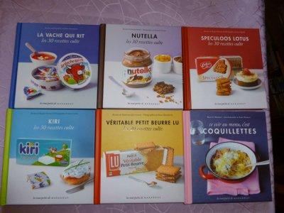 Et voila ma nouvelle collection de livres biensur de recettes