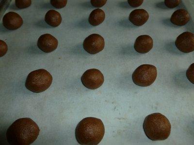 Petits sablés chocolatés