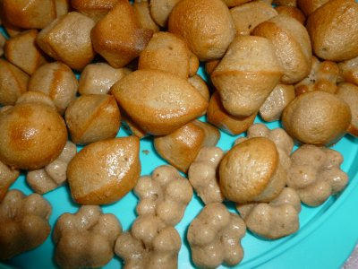Petites bouchées au gateau au yaourt et cacao