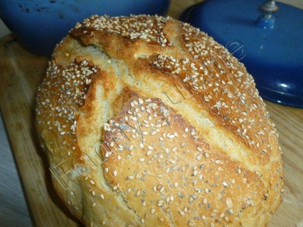 Pain au levain et aux céréales cuisson cocotte