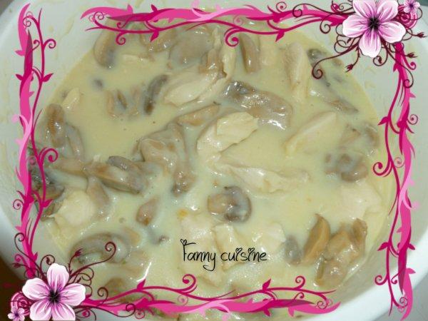 Blanquette de poulet aux champignons au thermomix