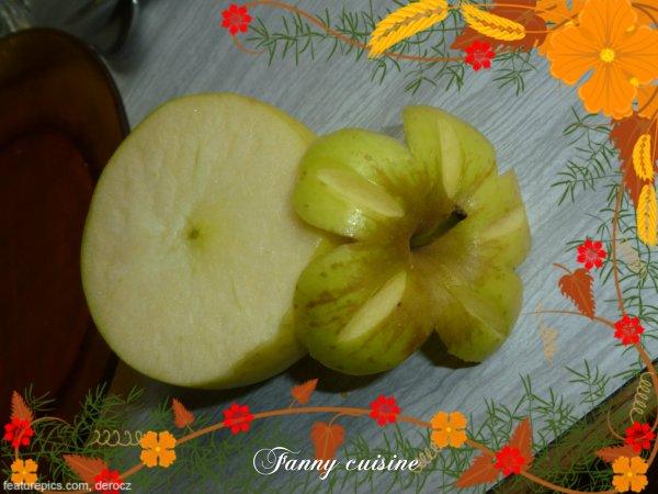 Petite déco sur une pomme