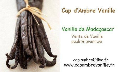 Pour toutes les personnes qui veulent commander de la vanille avec mon partenariat Cap d'Ambre Vanille
