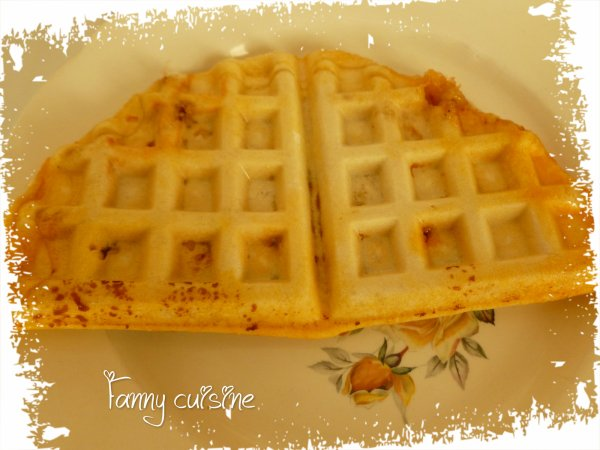 Pizza gaufre au thermomix