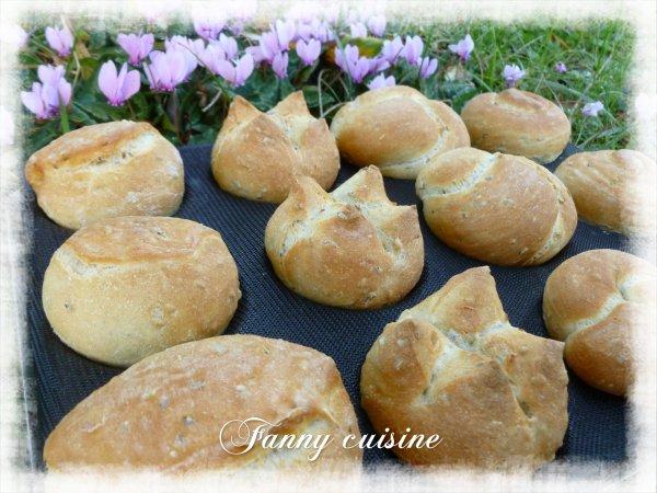 Petits pains individuels aux graines de lin au thermomix