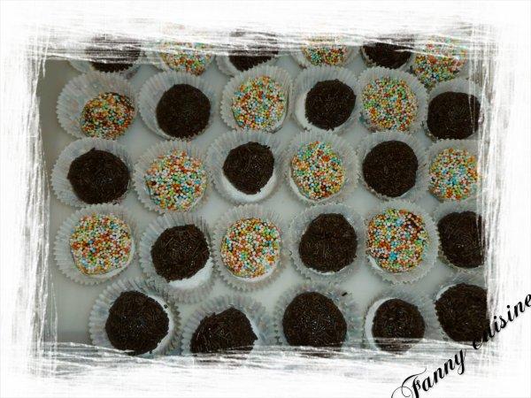 Truffes caramel-chocolat au thermomix