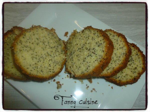 Cake citron / pavot en bocaux au thermomix