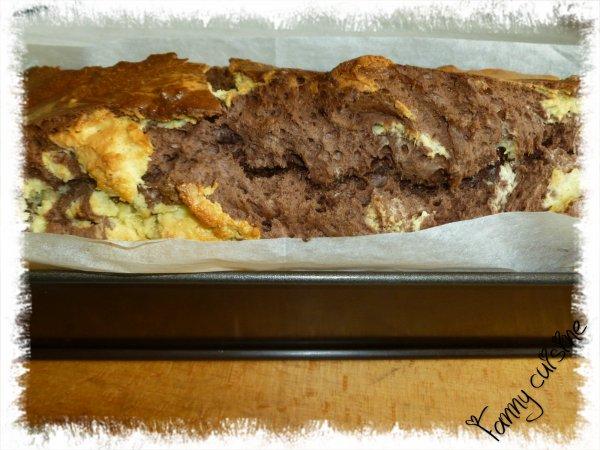 Cake marbré façon savane recette de Sabrina Le Meilleur Pâtissier M6 fait au thermomix